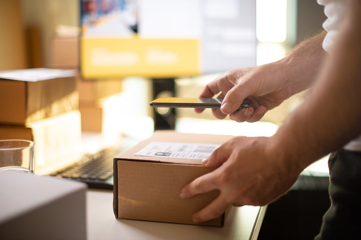 Shipping Label on Box